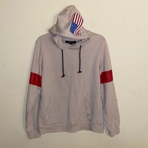 FOREVER 21 men's American flag hoodie size XS